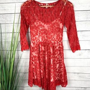 Free People Lace Overlay Dress 135